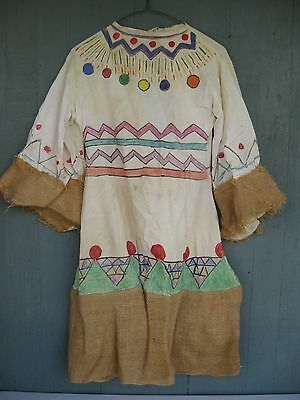 Vintage 1950s Homemade Native American Indian Squaw Girl's Dress Costume