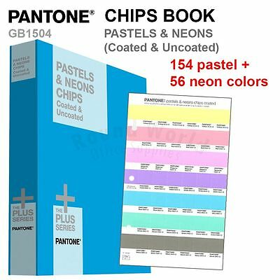 Pantone Color Plus Series GB1504 PASTELS & NEONS CHIPS Book (Coated & Uncoated)