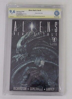 CBCS Graded 9.6 Aliens:  Newt's Tale No. 1, 6/1992, Signed by Carrie Henn