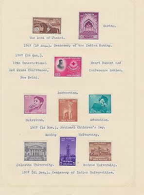 INDIA 1957-64 on 9 album pages ~ MINT ~ cv£45+