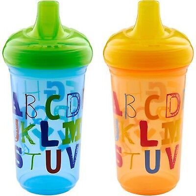 Munchkin 9oz Sippy Cup BPA-Free 2-Pack Alphabet (NEW - FREE SHIPPING)