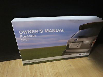 Array 2017 Subaru Forester Owners Manual Book 2 5i Premium Limited Touring Rh Picclick Com