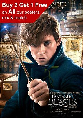 Fantastic Beasts And Where To Find Them Newt Scamander  Poster A5 A4 A3 A2 A1