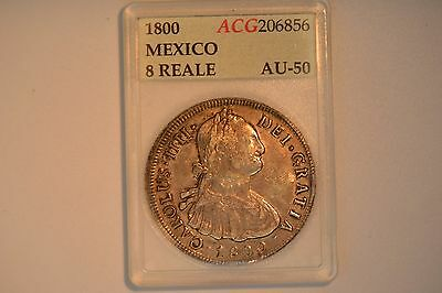 1800 Mexico 8 Reales- EF in obsolete holder.