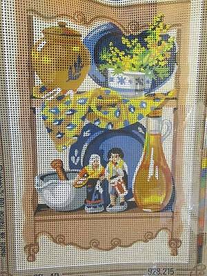 SEG Kitchen Shelves-Dolls/China Needlepoint Canvas #928.215-8.5x13 Inches/22x33c