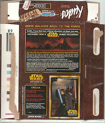Kudos M&M Mars Star Wars ROTS 7 granola boxes with trading cards (2005)