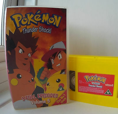 Pokemon Thunder Shock - 3 Full Episodes - volume 5 VHS Video