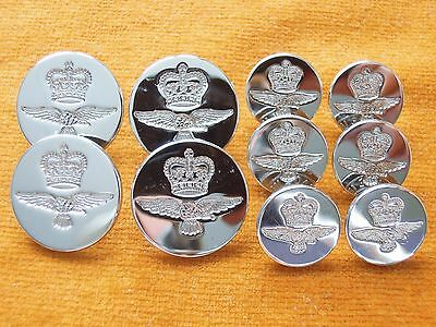Set of 10 British Royal Army Air Force RAF Buttons #533