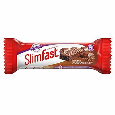 SlimFast Chocolate Snack Bars (Box of 24) Meal Replacement Diet Weight Loss NEW