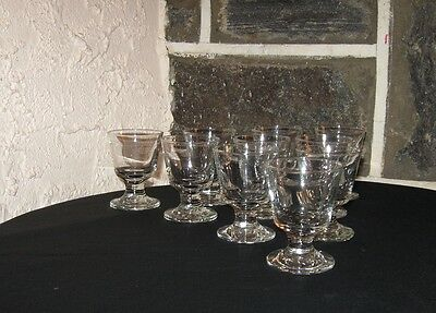 LIBBEY  Cordials/cocktail Glasses  older set footed LOT OF 10