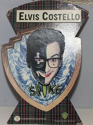 Elvis Costello Spike 3D Store Display Table Top Standee 1989