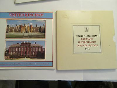 TWO 1986 United Kingdom Uncirculated Sets, 15 Coins total, mint packaging