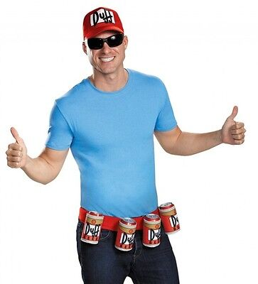 The Simpsons Duffman Accessory Kit Hat Belt Duff Beer Adult Costume Set Barry