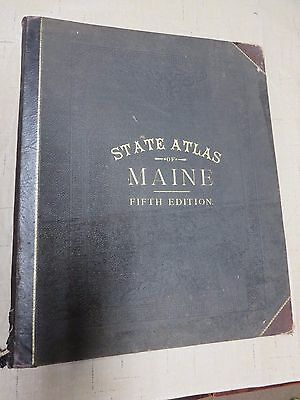 Colby's Atlas of the State of Maine. Copyright 1884 Fifth Edition 1890?-Complete