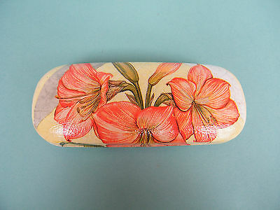 Hard eyeglasses case with lilly, spectacle case, lilly decorate case,storage box