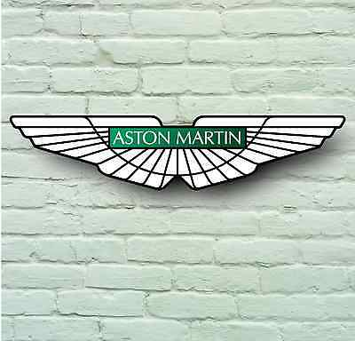 ASTON MARTIN 700mm CAR BADGE LOGO GARAGE WALL SIGN PLAQUE VANTAGE VANQUISH DB9
