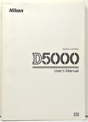 Nikon D5000 User Manual DSLR Camera English Original