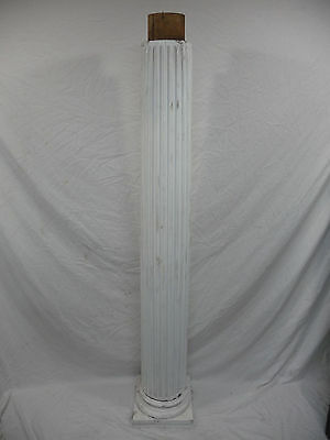 Antique Victorian Fluted Columns with Base - C. 1885 Fir Architectural Salvage
