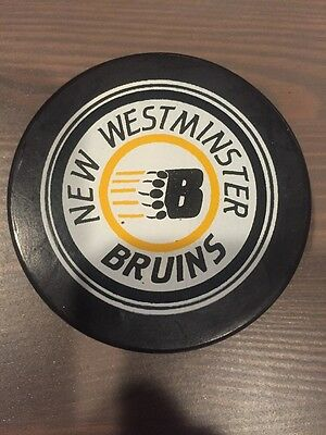 New Westminster Bruins 85-86 WHL Shield Viceroy Official Game Hockey Puck