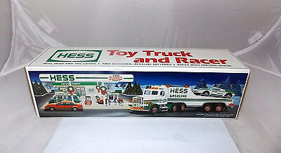 1991 HESS Toy Truck and Racer in Original Box Collectible