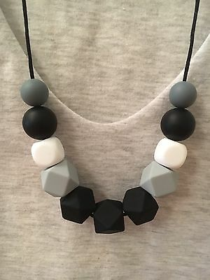 Silicone Sensory Baby (was teething) Necklace for Mum Jewellery Beads Aus MONO