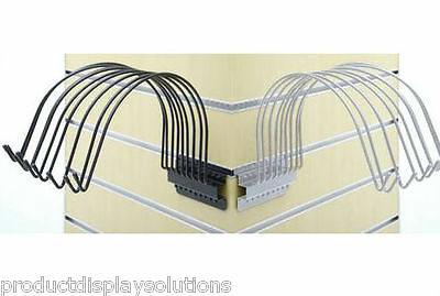 Slatwall Beanie Cap Hat Display - Holds 9 Caps   Available in Black or White