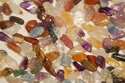 100g MIXED STONE CHIPS Tumbled Stones Fairy Stones Mini Healing Crystals