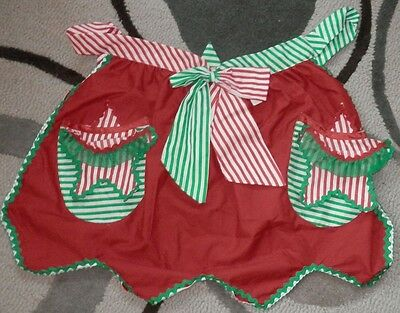 CHRISTMAS Retro CANDY CANE Kitchen APRON Beautiful NEW Katherine's Collection