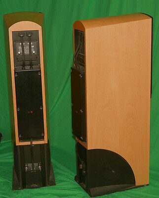 Pair of NAIM NBL speakers with passive crossovers - popular light beech colour