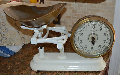 Antique Jb Enterprise Scale Works Commercial Weigh Scale