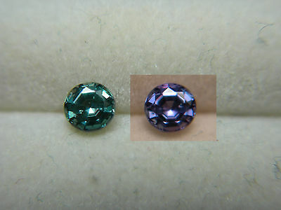 Alexandrite VERY RARE Color Change NATURAL Brazil gem Green to Purple round