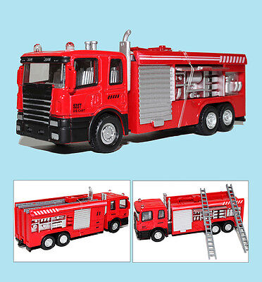 Cute kids Educational Toys Electric Fire Engine Truck With 3D Lights  Sounds uus