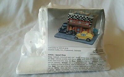 California Creations Christmas Village 'Speed Shop' #97031 - New/Sealed