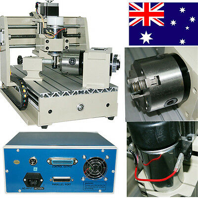 3AIX 4 AXIS CNC ROUTER ENGRAVER ENGRAVING MACHINE MILLING T-SCREW CRAFTS W Mach3