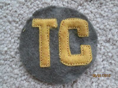 """WWI US Army patch Tank Corps  """"TC"""" Patch AEF"""