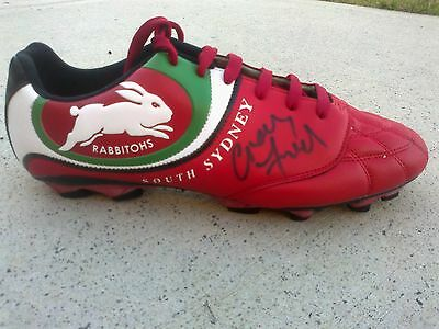 SIGNED - South Sydney Rabbitohs NRL rugby league boot