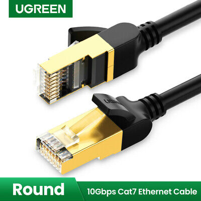 Ugreen Cat7 Cable Ethernet Lan Network RJ45 Patch Cable Cord Fr PC Laptop 10Gbps