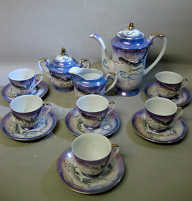 Vintage Japanese hand painted coffee / tea sets (15 pieces)
