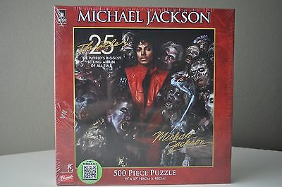 "2011 Michael Jackson 25th Anniversary Thriller Puzzle 500 Piece 19"" x 19"" SEALED"