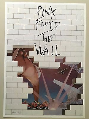 PINK FLOYD,THE WALL,1979, DESIGNED BY GERALD SCARFE,  ORIGINAL1980's POSTER