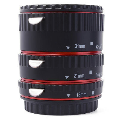 Auto focus Macro Extension Tube Ring Set for Canon EOS 70D 100D 600D 1100D DC467