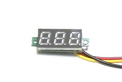 "Digital Panel Voltmeter Voltage Meter 0.28"" BLUE LED Display 0-100V DC 3-Wire BB"