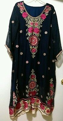 Pakistani Indian Dress Ethnic Salwar Kameez Designer Suit Bollywood Party Dress