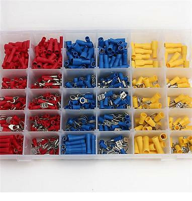 480PCS Assorted Crimp Spade Terminal Insulated Electrical Wire Connector