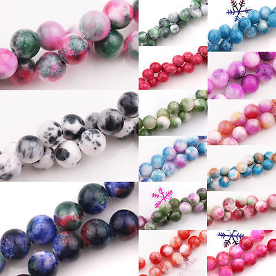 1Bunch Natural Persian Jade Stone Gemstone Round Spacer Loose Beads DIY 6mm 8mm