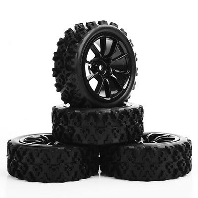 1/10 RC Rally Racing Off Road Car Rubber Tyre Tires and Wheel 4PCS PP0487+C12NK