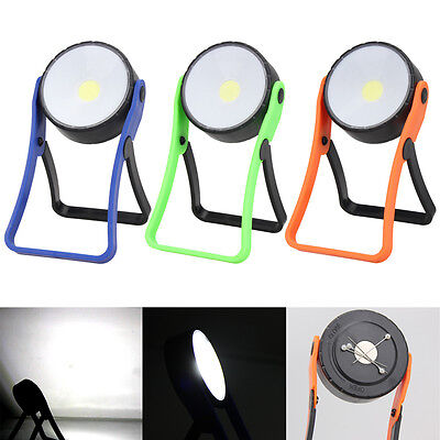COB LED 300 Lumen Stand Flashlight Hanging Magnetic Hook Light Work Lamp Torch