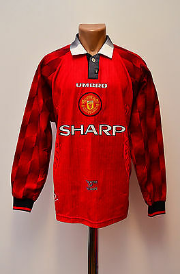 Manchester United 1996/1997/1998 Home Football Shirt Jersey Umbro Long Sleeve