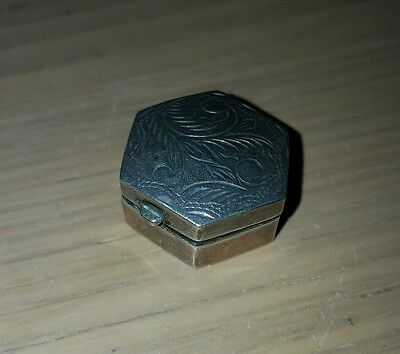 Vintage Ari D Norman solid silver pill box fully hallmarked