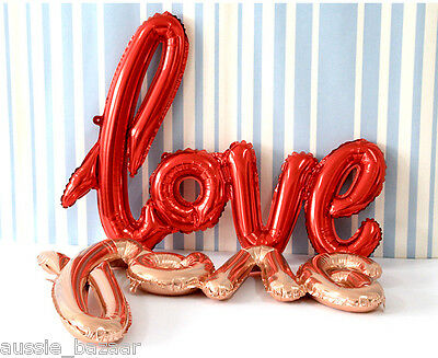 Handwriting Love Foil Balloons Wedding Birthday Party Decorations Valentines day